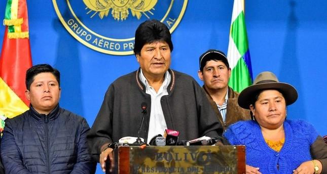 Bolivian President Evo Morales announcesresignation