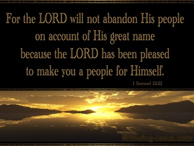 Take Courage: God Never Abandons HisOwn