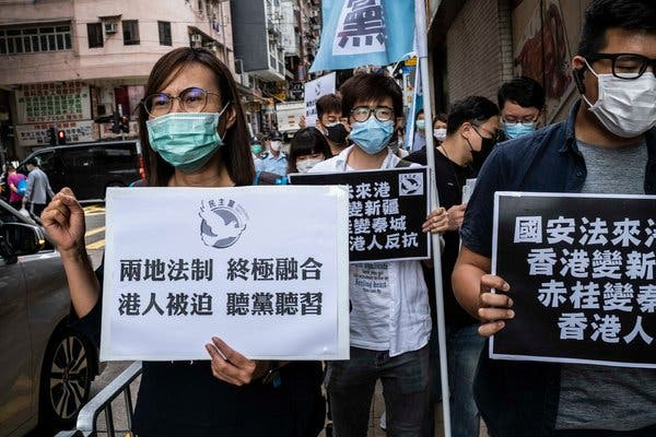 China under pressure over Hong Kong security law