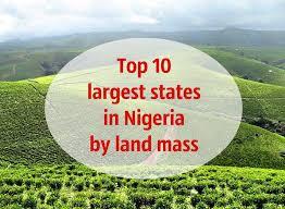 Nigerian states and landmass