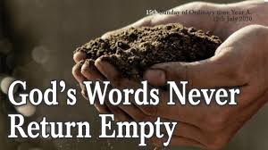 God's Words Never Return Empty