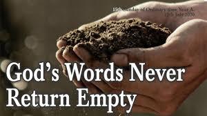 God's Words Never ReturnEmpty