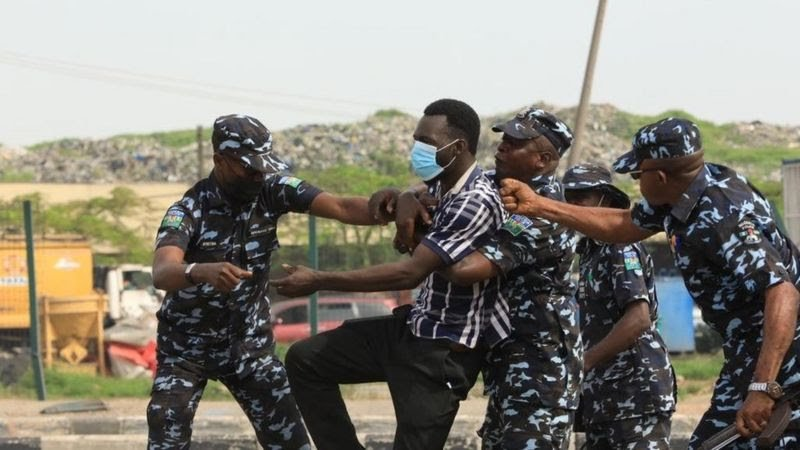 Police Teargass Protesters inLagos,Abuja